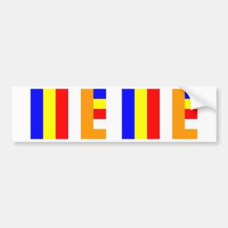 Buddhist Flag Bumper Sticker