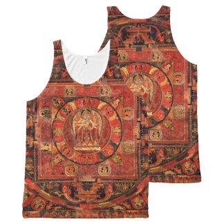 Buddhist Mandala of Compassion All-Over-Print Tank Top
