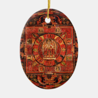 Buddhist Mandala of Compassion Ceramic Ornament