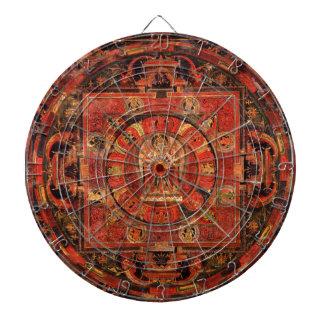 Buddhist Mandala of Compassion Dartboard