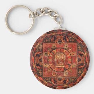 Buddhist Mandala of Compassion Keychain