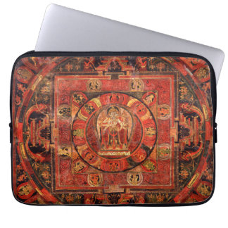 Buddhist Mandala of Compassion Laptop Sleeve
