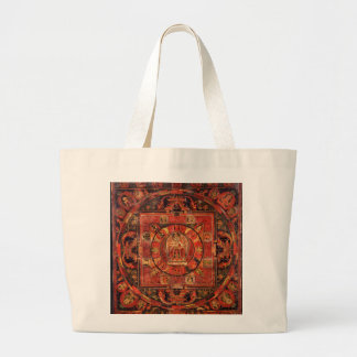 Buddhist Mandala of Compassion Large Tote Bag