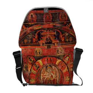 Buddhist Mandala of Compassion Messenger Bag