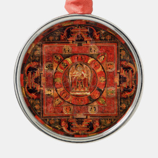 Buddhist Mandala of Compassion Metal Ornament