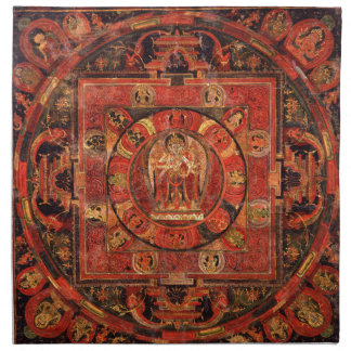 Buddhist Mandala of Compassion Napkin