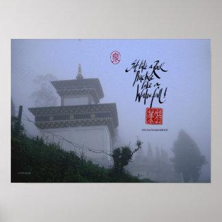 Buddhist monastary in Sikkim Poster
