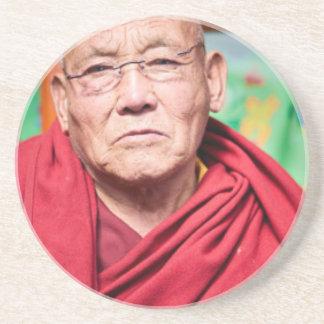 Buddhist Monk in Red Robe Coaster