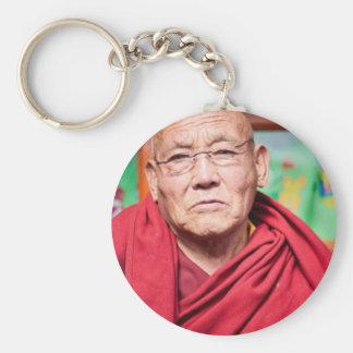Buddhist Monk in Red Robe Keychain