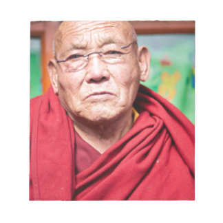 Buddhist Monk in Red Robe Notepad