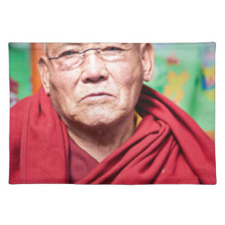 Buddhist Monk in Red Robe Placemat