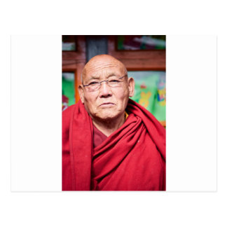 Buddhist Monk in Red Robe Postcard