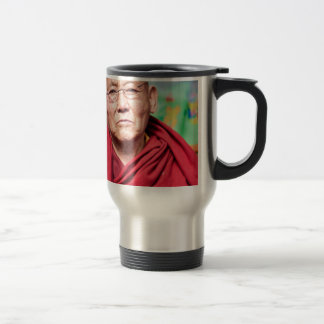 Buddhist Monk in Red Robe Travel Mug