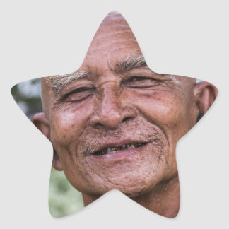 Buddhist Monk Star Sticker