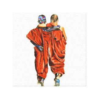 Buddhist monks canvas print