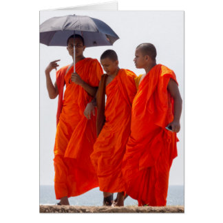 Buddhist monks card