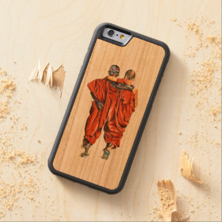 Buddhist monks carved cherry iPhone 6 bumper case