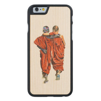 Buddhist monks carved maple iPhone 6 case