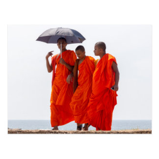 Buddhist monks postcard