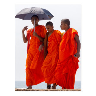 Buddhist monks postcard