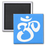 Buddhist & New Age Calligraphic Om Symbol Refrigerator Magnet