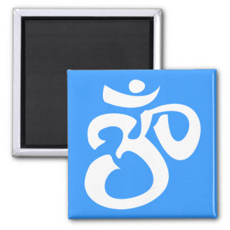 Buddhist & New Age Calligraphic Om Symbol Magnet