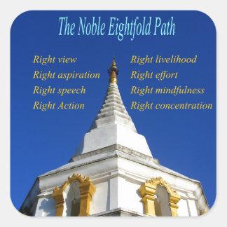 Buddhist Noble Eightfold Path Square Sticker