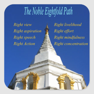 Buddhist Noble Eightfold Path Square Sticker