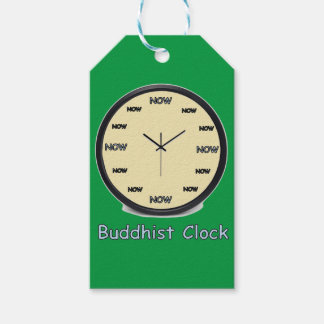 Buddhist Now Clock Gift Tags