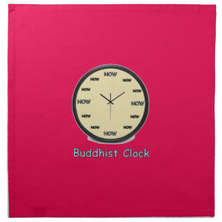 Buddhist Now Clock Napkin