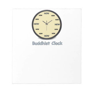 Buddhist Now Clock Notepad