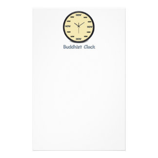 Buddhist Now Clock Stationery