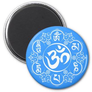 Buddhist Om Mani Padme Hum Mantra Magnet