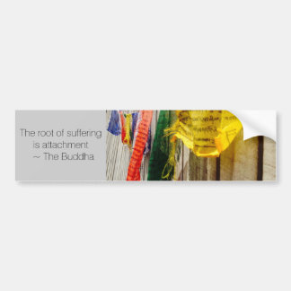 Buddhist Prayer Flags with Quote by the Buddha Bumper Sticker