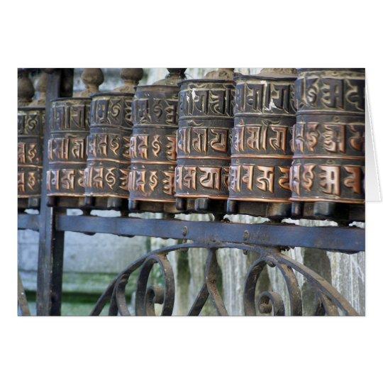BUDDHIST PRAYER WHEELS, NEPAL CARD