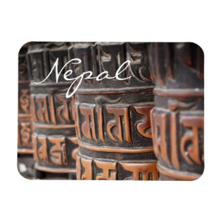 Buddhist prayer wheels rectangular text magnet