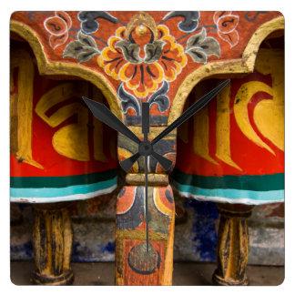Buddhist praying role, bhutan wallclock