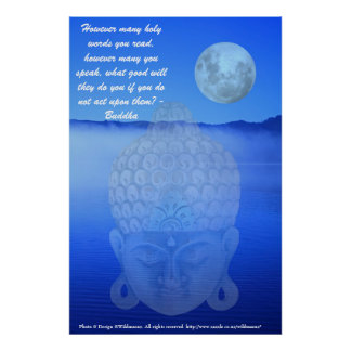 Buddhist quote poster