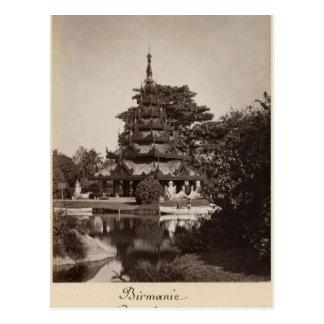 Buddhist rest house, Moulmein, Burma, c.1875 Postcard