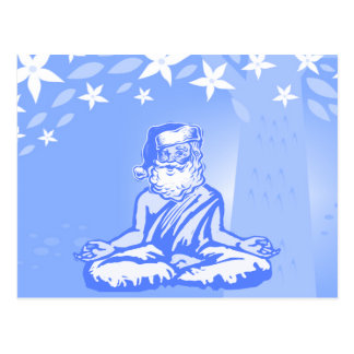 Buddhist Santa Christmas Card Postcard