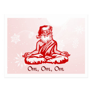 Buddhist Santa Christmas Card Postcard