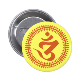 Buddhist Siddham Script Om Symbol 2 Inch Round Button