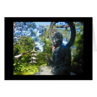 buddhist statue card