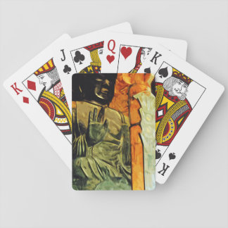 Buddhist Statue in Temple Abstract Impressionism Playing Cards