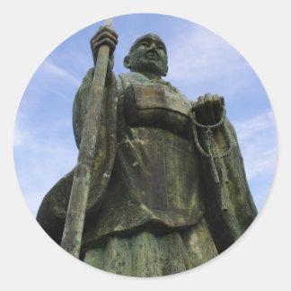 Buddhist Statue of Imayama Kobo Daishi Classic Round Sticker