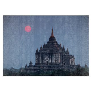 Buddhist Temple At Sunset Boards