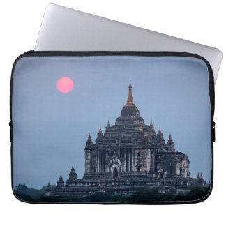 Buddhist Temple At Sunset Laptop Sleeve