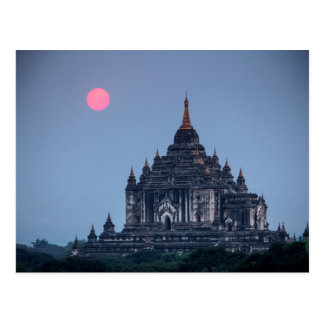 Buddhist Temple At Sunset Postcard
