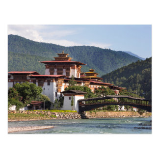 Buddhist Temple By River Postcard