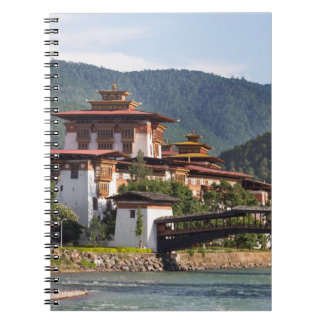 Buddhist Temple By River Spiral Notebook